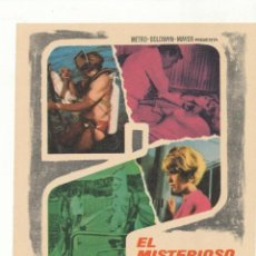 Flyers Publicitaires de films Anciens: EL MISTERIOSO SEÑOR VAN EYCK. SENCILLO DE MGM. . Lote 54222975