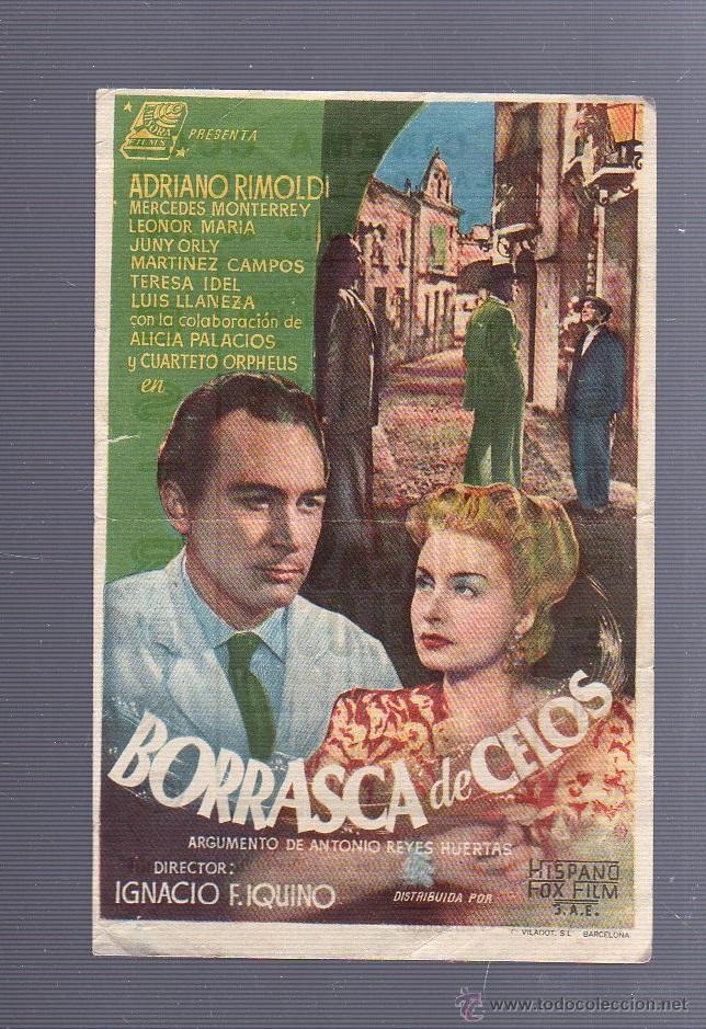 PROGRAMA DE CINE. BORRASCA DE CELOS. GRAN CINEMA COCA. 1947. IMPRENTA LOZANO. VALLADOLID (Cine - Folletos de Mano - Drama)