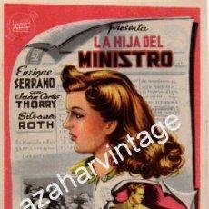 Cine: LA HIJA DEL MINISTRO, ENRIQUE SERRANO,JUAN C. THORRY SILVANA ROTH, SENCILLO,IMPECABLE. Lote 54314984