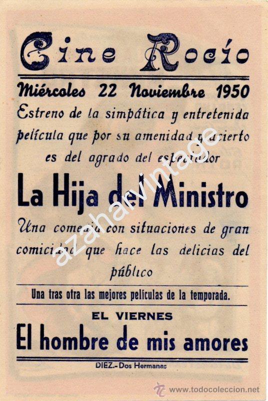 Cine: LA HIJA DEL MINISTRO, ENRIQUE SERRANO,JUAN C. THORRY SILVANA ROTH, SENCILLO,IMPECABLE - Foto 2 - 54314984