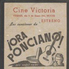 Cine: ORA PONCIANO - DOBLE - CINE VICTORIA -(C-2407). Lote 54323920