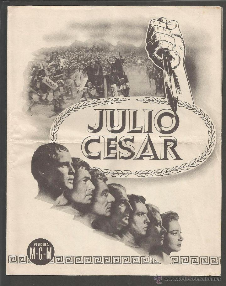JULIO CESAR - DOBLE -(C-2409) (Cine - Folletos de Mano - Terror)