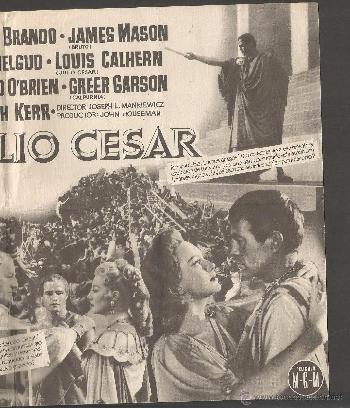 Cine: JULIO CESAR - DOBLE -(C-2409) - Foto 3 - 54323988
