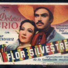 Folhetos de mão de filmes antigos de cinema: PROGRAMA DE CINE: FLOR SILVESTRE. PC-3884. Lote 54353647