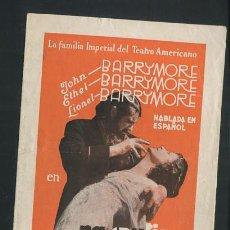 Cine: PROGRAMA RASPUTIN Y LAZARINA JOHN BARRYMORE, LIONEL BARRYMORE. Lote 54389317