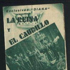 Cine: PROGRAMA LA REINA Y EL CAUDILLO, DIANA, SORIANO FILMS, ANNA NEAGLES, FERNAND GRAVEY CON PUBLICIDAD. Lote 54389364