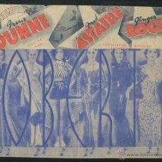 Cinema - PROGRAMA DOBLE RKO *ROBERTA* 1936 FRED ASTAIRE GINGER ROGERS IRENE DUNNE CON PUBLICIDAD - 54389667