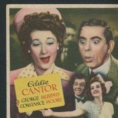 Cine: PROGRAMA SU MAJESTAD LA FARSA (EDDIE CANTOR - GEORGE MURPHY - JOAN DAVIS - NANCY KELLY). Lote 54411505