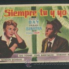 Cine: PROGRAMA SIEMPRE TU Y YO - DORIS DAY, FRANK SINATRA - CON PUBLICIDAD. Lote 115536355