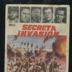 Cine: PROGRAMA SECRETA INVASION- STEWART GRANGER, RAF VALLONE, MICKEY ROONEY CON PUBLICIDAD. Lote 54427360