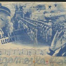 Cine: PROGRAMA SIGAMOS LA FLOTA - FRED ASTAIRE Y GINGER ROGERS CON PUBLICIDAD. Lote 54428301