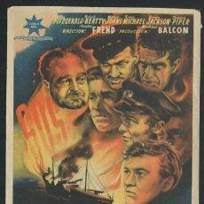 Cine: PROGRAMA SAN DEMETRIO LONDON (ARTHUR YOUNG - WALTER FITZGERALD - RALPH MICHAEL) CON PUBLICIDAD. Lote 54428814