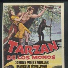 Cine: PROGRAMA TARZAN DE LOS MONOS. JOHNNY WEISSMULLER. MAUREEN O'SULLIVAN.. Lote 54437574