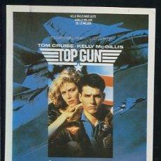 Folhetos de mão de filmes antigos de cinema: PROGRAMA TOP GUN - TOM CRUISE, TIM ROBBINS, KELLY MCGILLIS - TONY SCOTT. Lote 54456270