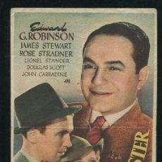 Cine: PROGRAMA EL ÚLTIMO GANGSTER, EDWARD G. ROBINSON, JAMES STEWART. Lote 54466275