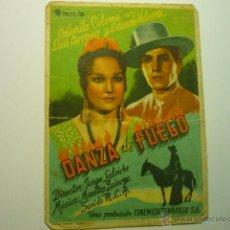 Folhetos de mão de filmes antigos de cinema: PROGRAMA DANZA DE FUEGO - ANTOÑITA COLOME- . Lote 54487667