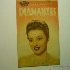 Cine: PROGRAMA DOBLE DIAMANTES -DORIS DURANTI - PUBLICIDAD. Lote 54488195