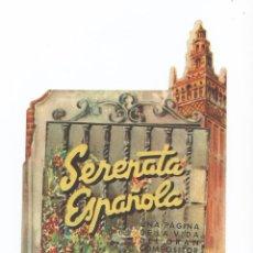 Cine: SERENATA ESPAÑOLA - JUANITA REINA - DOBLE TROQUELADO - CON PUBLICIDAD. Lote 54528549