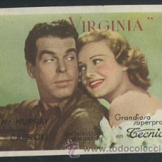 Kino - PROGRAMA VIRGINIA. FRED MC MURRAY, MADELEINE CARROLL, CAROLYN LEE, STERLIN HAYDEN. - 54546756