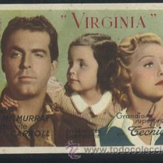 Kino - PROGRAMA VIRGINIA. FRED MC MURRAY, MADELEINE CARROLL, CAROLYN LEE, STERLIN HAYDEN. - 54546760