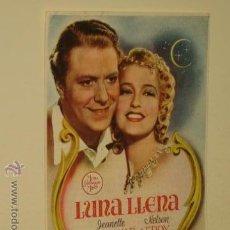 Cine: LUNA LLENA - CINE FOLLETO PROGRAMA DE MANO. Lote 54563132