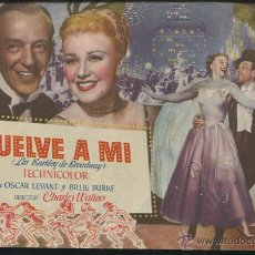 Cine: PROGRAMA VUELVE A MI (DOBLE) (FRED ASTAIRE - GINGER ROGERS - OSCAR LEVANT) CON PUBLICIDAD. Lote 54564589