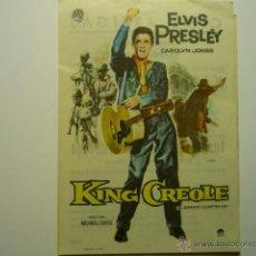Cine: PROGRAMA KING CREOLE-ELVIS PRESLEY-PUBLICIDAD. Lote 75258701