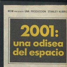 Foglietti di film di film antichi di cinema: PROGRAMA 2001: UNA ODISEA DEL ESPACIO (DOBLE) (KEIR DULLEA - GARY LOCKWOOD - WILLIAM SYLVESTER). Lote 54578854