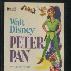 Cine: PROGRAMA PETER PAN - WALT DISNEY - DIBUJOS ANIMADOS . Lote 54579920