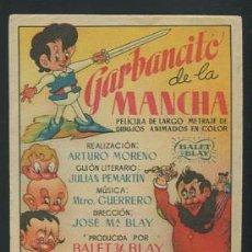 Cine: PROGRAMA GARBANCITO DE LA MANCHA DIBUJOS ANIMADOS ESPAÑOL . Lote 54580282