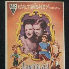 Cinema - PROGRAMA Canción del Sur - Walt Disney - Ruth Warrick, Lucile Watson - con publicidad - 54580330