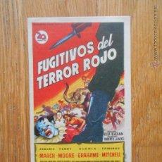Cine: FUGITIVOS DEL TERROR ROJO, FOLLETO DE MANO CINE COSO ZARAGOZA. Lote 54661207
