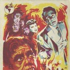 Cine: PROGRAMA DE MANO DE LA PELICULA EL HIJO DEL DR. JEKYLL CON LOUIS HAYWARD. Lote 54699232