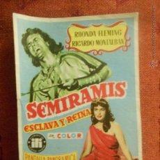 Cine: SEMIRAMIS, FOLLETO DE MANO, ESTRENO TEATRO ARGENSOLA ZARAGOZA. Lote 54751311
