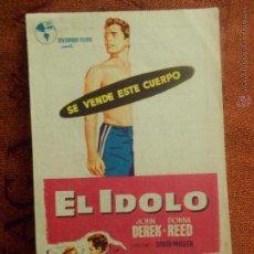 Cine: EL IDOLO, FOLLETO MANO, CINE DORADO ZARAGOZA. Lote 54751899