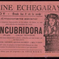 Cine: PROGRAMA ENCUBRIDORA - FRITZ LANG - MARLENE DIETRICH MUY RARO !!!!. Lote 54761754