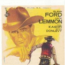 Flyers Publicitaires de films Anciens: COWBOY. SENCILLO DE COLUMBIA. CINE VICTORIA - ZARAGOZA 1960.. Lote 54783715