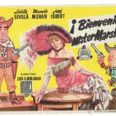 Cine: PS6181 PROGRAMA DE MANO '¡BIENVENIDO, MISTER MARSHALL!'. L. SEVILLA, M. MORÁN, J. ISBERT. Lote 52995290