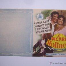 Flyers Publicitaires de films Anciens: LA PICARA MOLINERA CARMEN SEVILLA PACO RABAL CIFESA FOLLETO DE MANO ORIGINAL ESTRENO SIN DOBLAR!. Lote 104455072