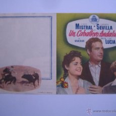 Flyers Publicitaires de films Anciens: UN CABALLERO ANDALUZ CARMEN SEVILLA JORGE MISTRALCIFESA FOLLETO DE MANO ORIGINAL ESTRENO SIN DOBLAR!. Lote 104455327