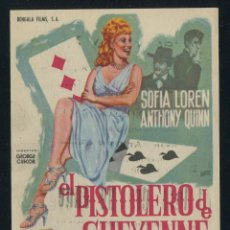 Cine: PROGRAMA EL PISTOLERO DE CHEYENNE. SOFIA LOREN, ANTHONY QUINN. BENGALA FILMS CON PUBLICIDAD. Lote 54856859