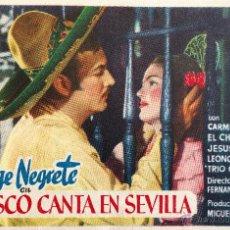 Cine: JALISCO CANTA EN SEVILLA-JORGE NEGRETE-CARMEN SEVILLA-ESTRENO. Lote 54918992