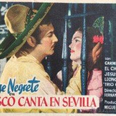 Cine: JALISCO CANTA EN SEVILLA-JORGE NEGRETE-CARMEN SEVILLA-ESTRENO. Lote 54919001