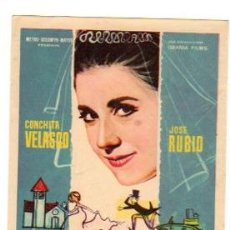 Flyers Publicitaires de films Anciens: FOLLETO MANO LA BODA ERA A LAS DOCE. CONCHITA VELASCO. JOSE RUBIO. AÑO 1963. Lote 54931268