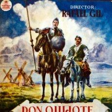 Cine: DON QUIJOTE DE LA MANCHA- CIFESA DOBLE- RAFAEL RIVELLES-JUAN CALVO-RAFAEL GIL-. Lote 116079200