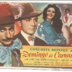 Cine: DOMINGO DE CARNAVAL - SENCILLO - CON PUBLICIDAD. Lote 54979609