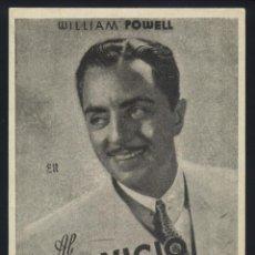 Cine: P-6144- AL SEVICIO DE LAS DAMAS (MY MAN GODFREY) (PALACIO CINEMA) (WILLIAM POWELL - CAROLE LOMBARD). Lote 54985999