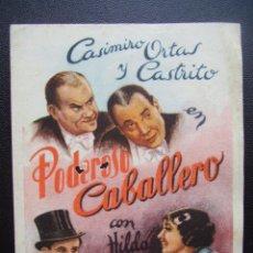 Cine: PODEROSO CABALLERO, CASIMIRO ORTAS, ARAJOL. Lote 55003849