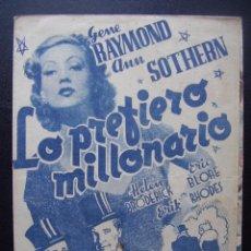 Cine: LO PREFIERO MILLONARIO, GENE RAYMOND, ANN SOTHERN. Lote 55036944