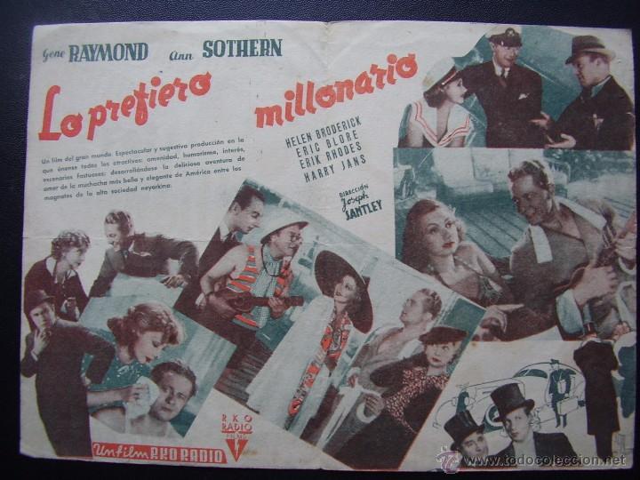 Cine: LO PREFIERO MILLONARIO, GENE RAYMOND, ANN SOTHERN - Foto 2 - 55036944
